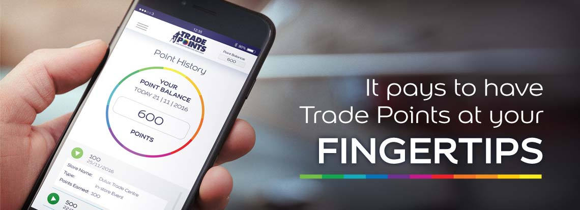 Dulux Trade Points App Banner